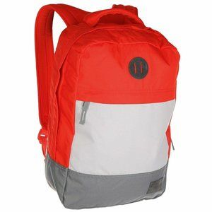 Nixon Beacons Backpack Lobster Red Gray Everyday